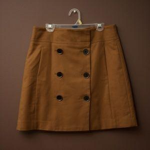 Loft buttoned mini skirt